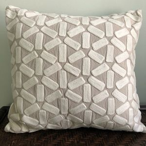 West Elm Decorative Embroidered Pillow Cover